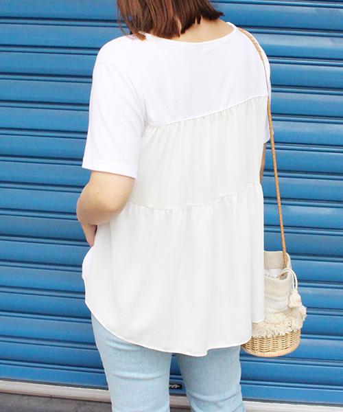 【SALE】バックフレアTシャツ/2カラー