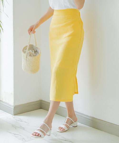 【SALE】リネンタイトスカート/8カラー