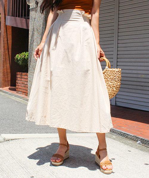 【SALE】ウエストギャザースカート/4カラー