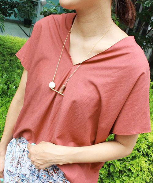 【SALE】Vネックスキッパーシャツ/4カラー