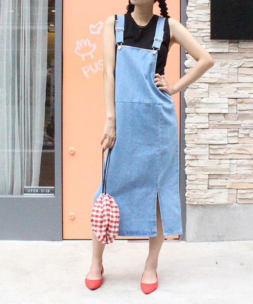 【SALE】サロペットスカート /3カラー
