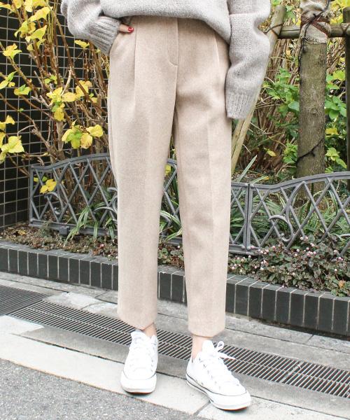 【SALE】起毛テーパードパンツ/3カラー