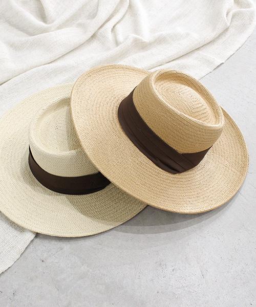 【SALE】リボンカンカン帽/4カラー