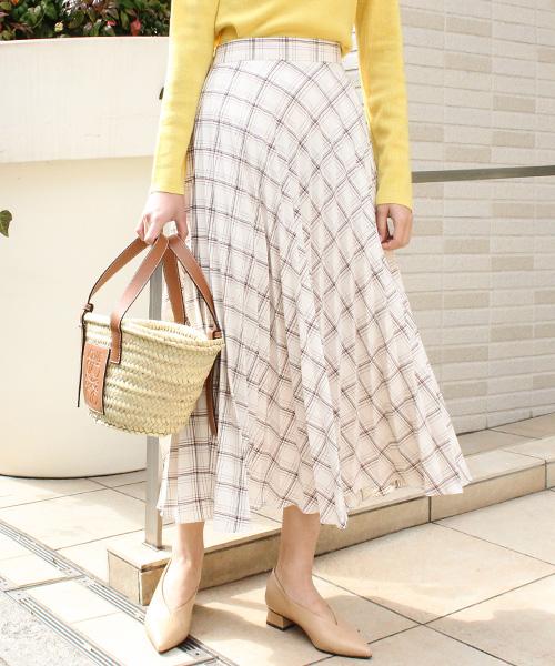 【SALE】チェックプリーツスカート/2カラー