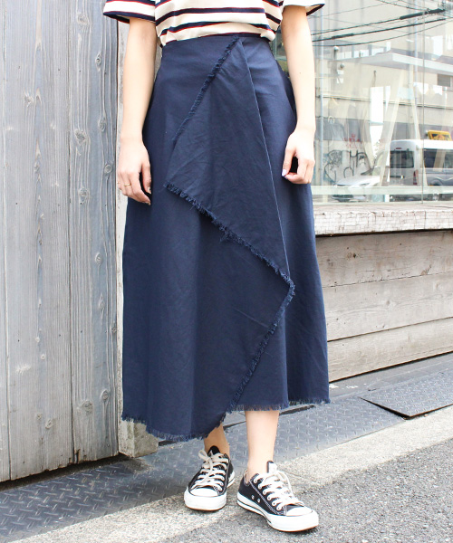 フリンジカットラップスカート /4カラー