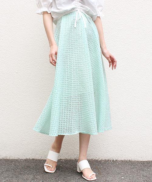 【SALE】ギンガムチェックスカート/2カラー