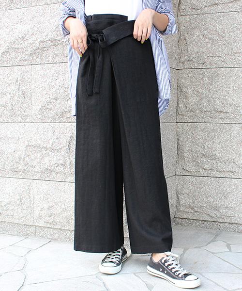 【SALE】ラップリネンパンツ /3カラー