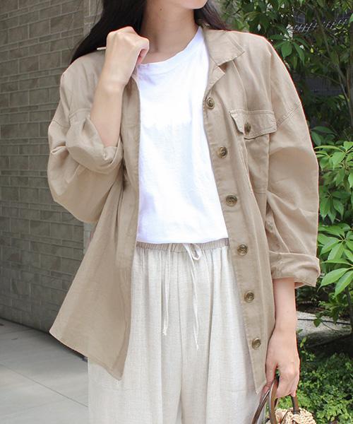 【SALE】オーバーシャツ/3カラー