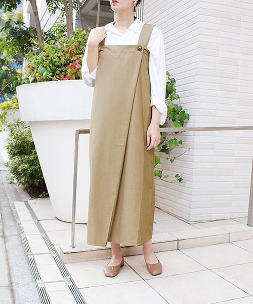 【SALE】バックリボンジャンパースカート/2カラー