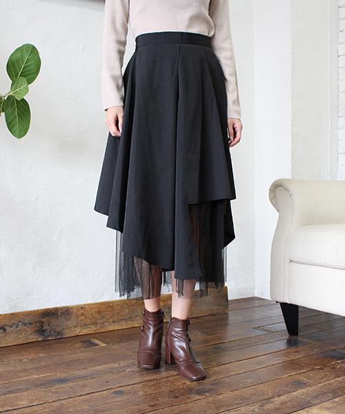 チュールレイヤードスカート/1カラー