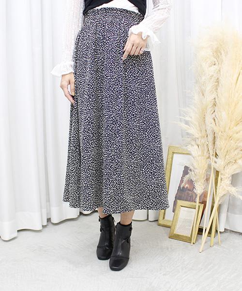 【SALE】レオパードフレアスカート/3カラー