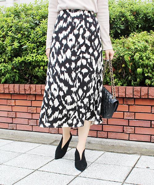 【SALE】レオパードタイトスカート/2カラー