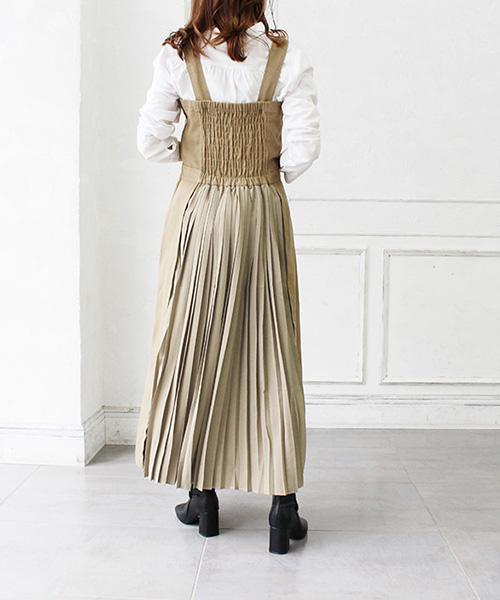 【SALE】バックプリーツジャンパースカート/3カラー