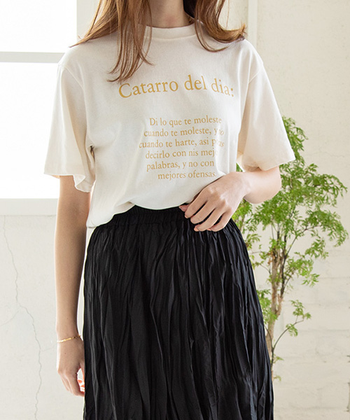 フロントロゴTシャツ/3カラー