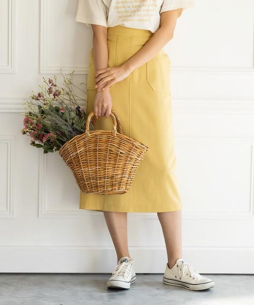 【SALE】リトルチェックタイトスカート/2カラー
