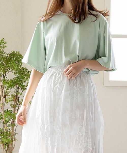 【SALE】シンプル無地Tシャツ/5カラー