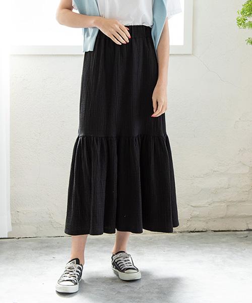 【SALE】ティアードスカート/2カラー
