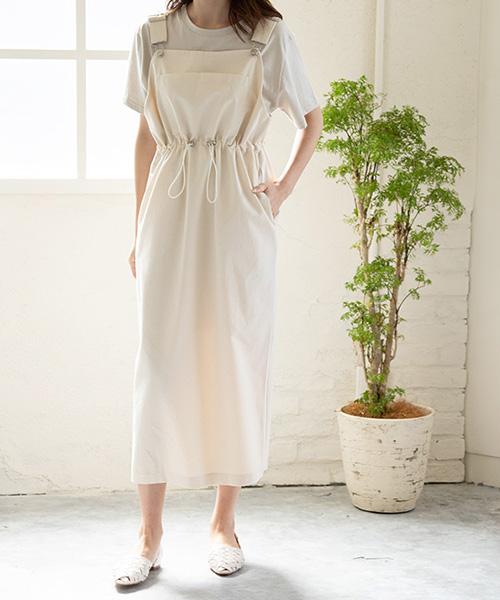 【SALE】ポケット付きジャンパースカート/3カラー