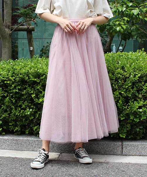 【SALE】チュールスカート/5カラー【WEB限定】