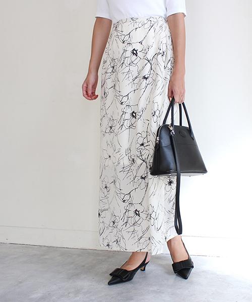フラワープリントスカート/2カラー