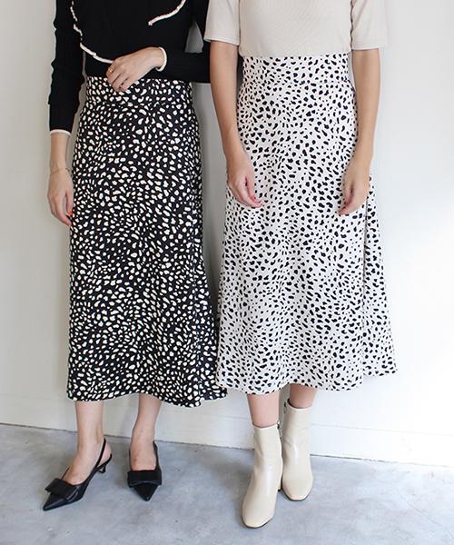 レオパードプリントスカート/3カラー