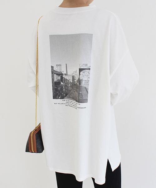 バックプリントロングTシャツ/1カラー