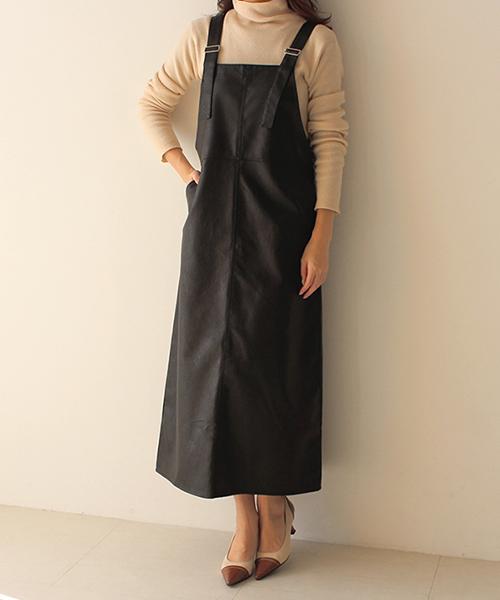 エコレザージャンパースカート/2カラー