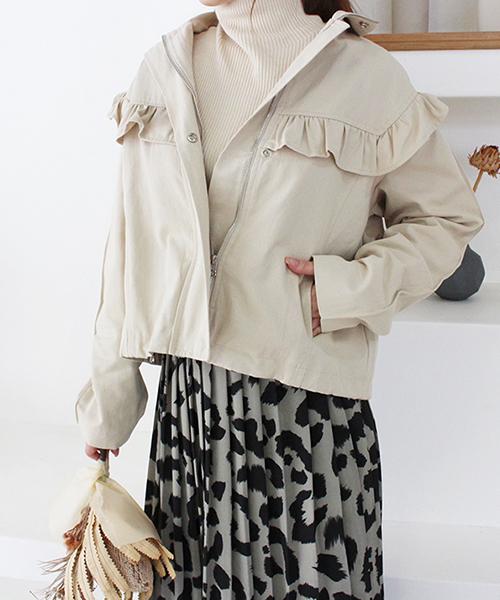 フリルデザインジャケット/2カラー
