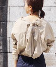 スキッパーリボンシャツ/3カラー