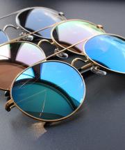 【SALE】ダブルブリッジビッグミラーサングラス/3カラー