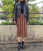 チェックタイトスカート/3カラー