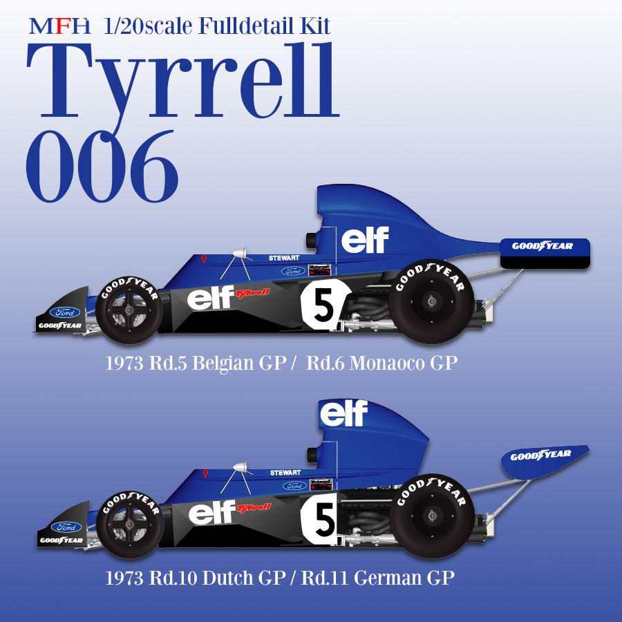 1/20scale Fulldetail kit : Tyrrell 006