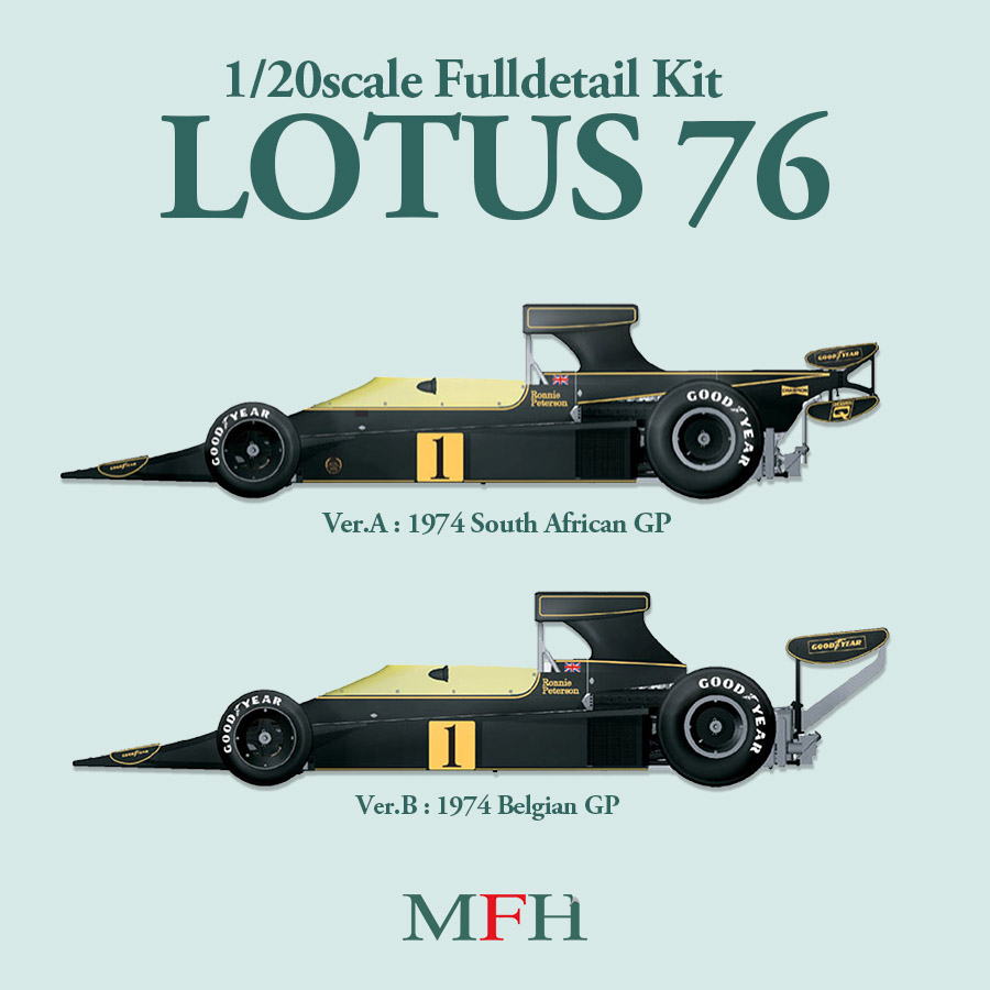 1/20scale Fulldetail Kit : LOTUS 76