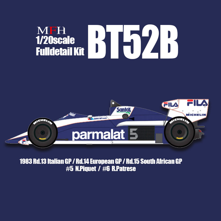 1/20scale Fulldetail Kit : BT52B [with Test Driver Figure]