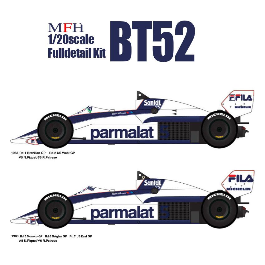 1/20scale Fulldetail Kit : BT52
