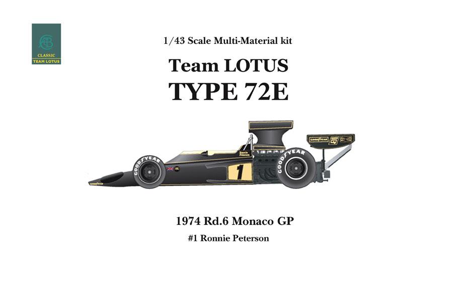 1/43scale Multi-Material Kit : LOTUS Type72E
