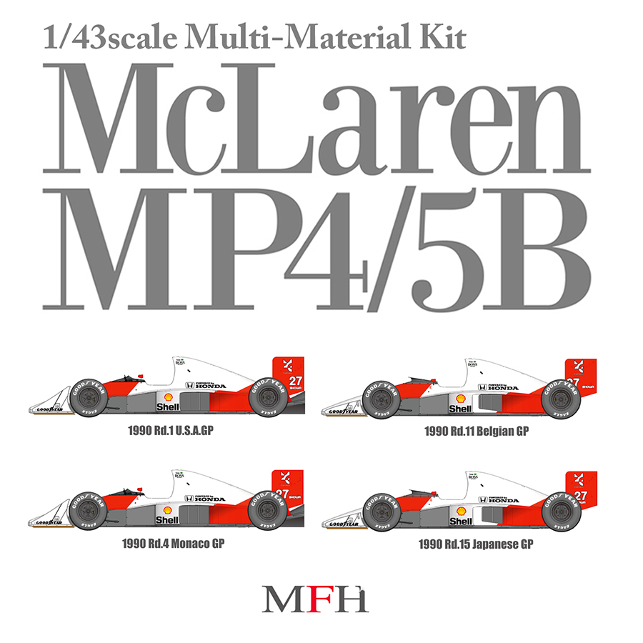 1/43scale Multi-Material Kit : McLaren MP4/5B