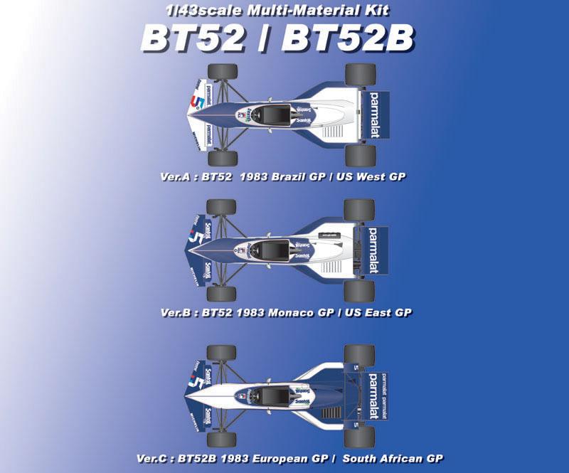 1/43scale Multi-Material Kit : BT52/BT52B