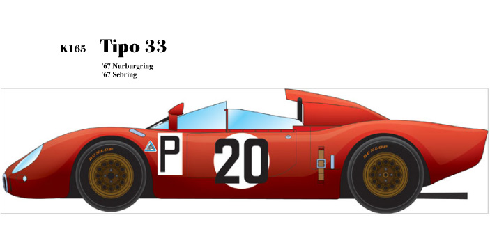 1/24scale Fulldetail Kit : Tipo33 [ '67 Sebring & Nurburgring ]