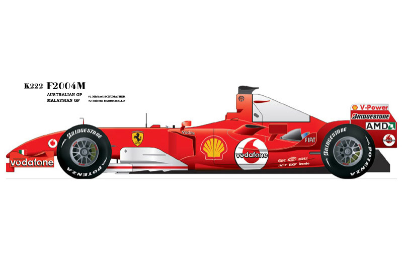 1/20scale Proportion Kit : 2004M Australian GP / Malaysian GP