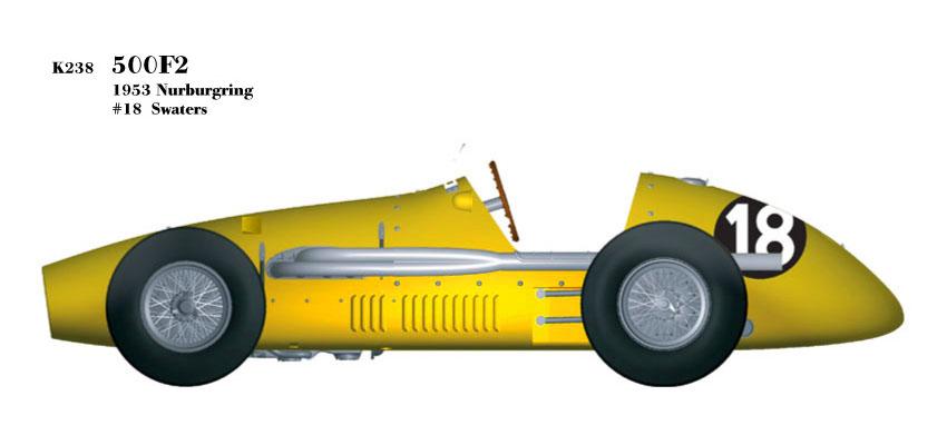 1/20scale Fulldetail Kit : 500F2 [1953 Nurburgring]