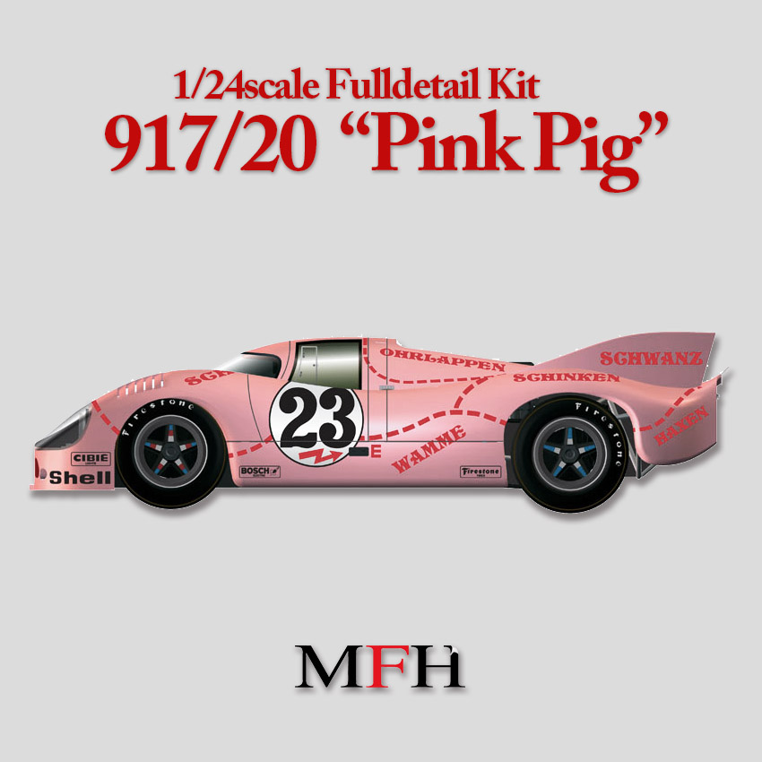 """1/24scale Fulldetail Kit : 917/20 """"Pink Pig"""""""