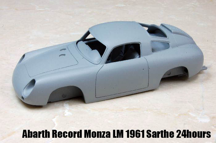 1/24scale Lightweight Series : Abarth Record Monza LM 1961 Sarthe 24hours