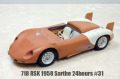 1/24scale Lightweight Series : 718 RSK 1958 Sarthe 24hours