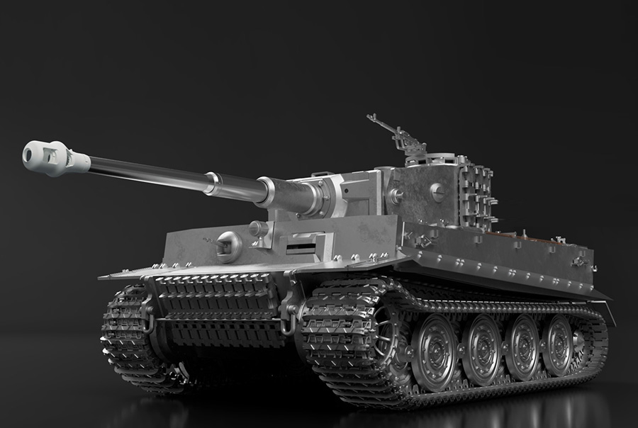 1/35scale Multi-Material Kit : ティーガーⅠ後期生産型 TIGER I Ausf.E Late Production [ Full Metal Version ]