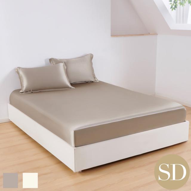セミダブル | 120×200cm | 高さ38cm | ボックスシーツ1枚 | 包み型スタンダード枕カバー2枚 | 22匁 シルク