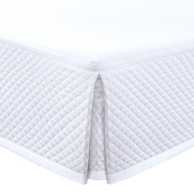 ベッドスカート   キング   180x200cm   高さ25cm   400TC ダイアモンドキルトベッドスカート   9月下旬入荷予定