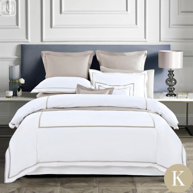 [Renewal]キング | ボックスシーツ1枚 | 掛け布団カバー1枚 | 包み型スタンダード枕カバー2枚セット | 400TC ホテル