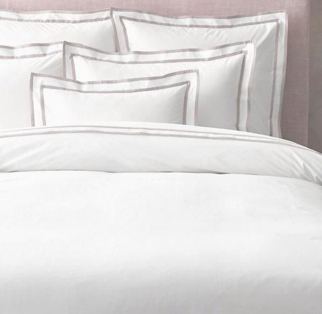 クイーン / ボックスシーツ1枚 / 掛け布団カバー1枚 / 封筒型スタンダード枕カバー2枚 /400TC ホテル