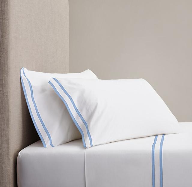 キング / 180×200cm / 高さ40cm / ボックスシーツ1枚 封筒型スタンダード枕カバー2枚  / 400TC ホテル